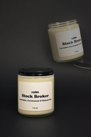 Stock Broker Scented Soy Candle 7.2 oz