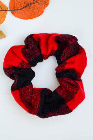 Buffalo Plaid Flannel Scrunchie