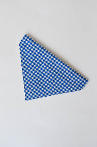 Blueberry Gingham Dog Bandana