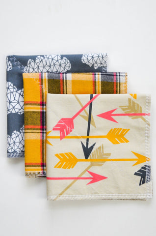 Hard Wearing Hankies - Mixed 3 Pack