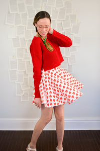 Strawberry Jammer Skater Skirt