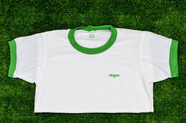 Vegan Name Badge Unisex Tee