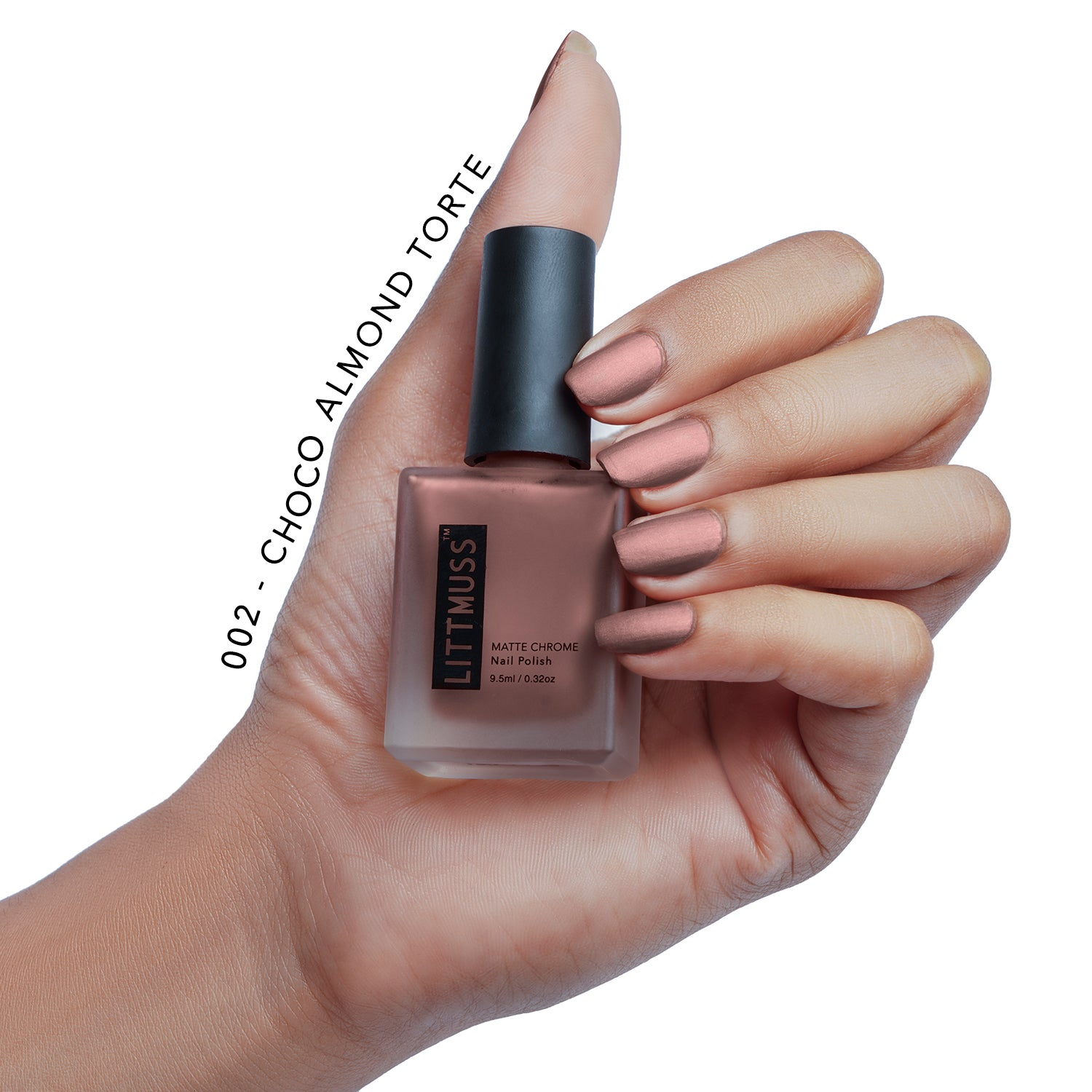LITTMUSS Matte Chrome Nail Polish Brown Hues Combo