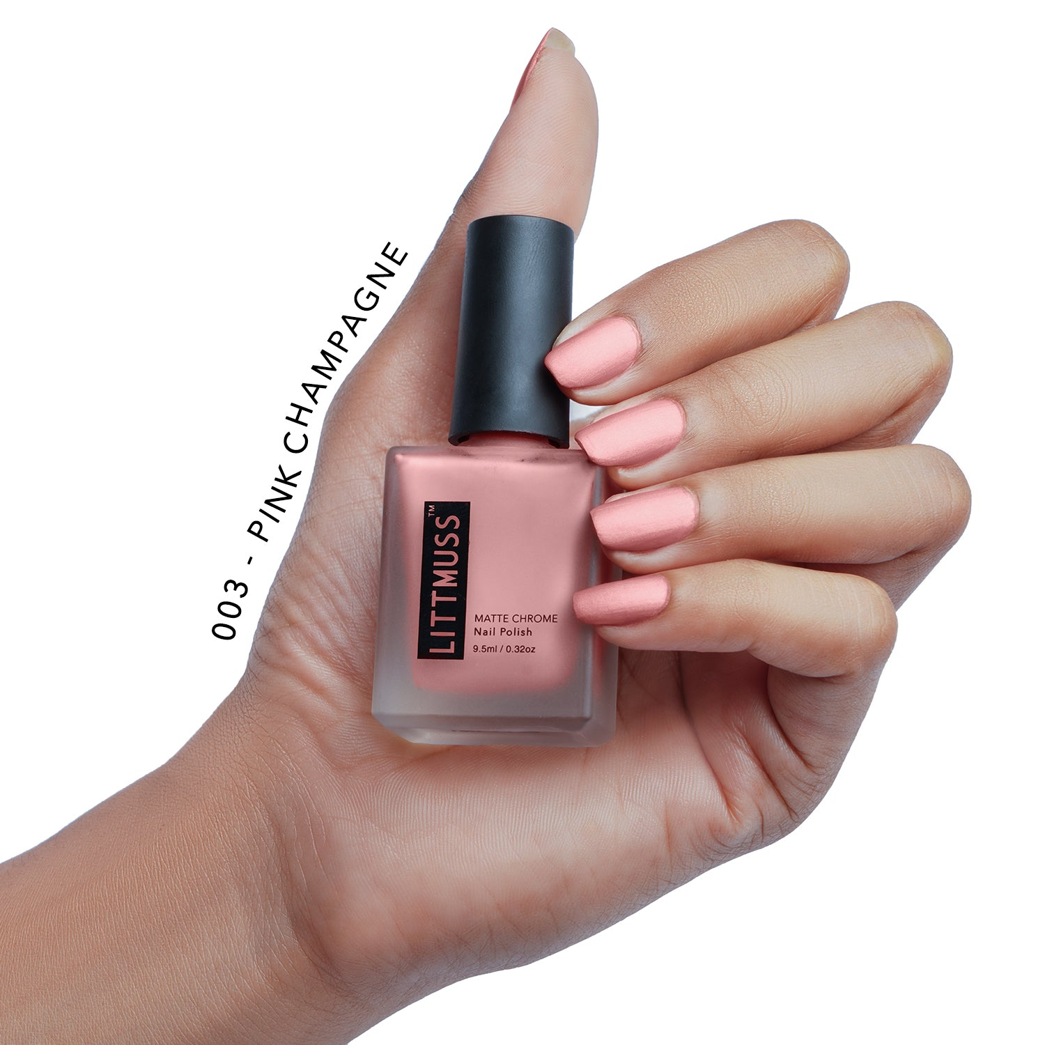 LITTMUSS Matte Chrome Nail Polish Pink Blush Combo