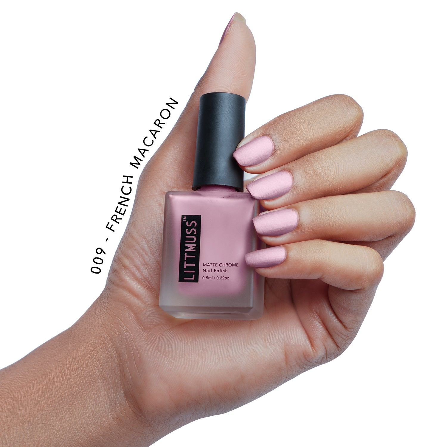 LITTMUSS Matte Chrome Nail Polish Lovely Lavender Combo