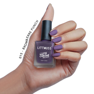 LITTMUSS Matte Chrome & Sugar Candy Nail Polish Currant Candy Combo