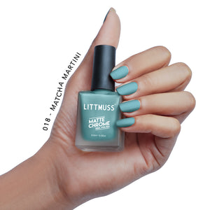 LITTMUSS Matte Chrome & Sugar Candy Nail Polish Blue Hues Combo