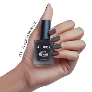 LITTMUSS Matte Chrome & Sugar Candy Nail Polish Nice Vice Combo