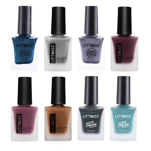 LITTMUSS Matte Chrome & Sugar Candy Nail Polish Explore Magic Combo