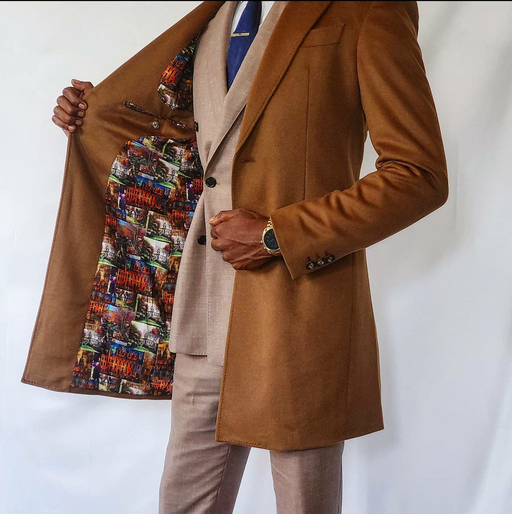 Xavi Camel Overcoat - Xavi Row Bespoke  - Coat - [xavi_row] - [bespoke] - [custom] - [black_owned]