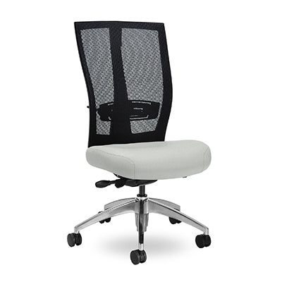 Grid Square Chair with Silver base, No Arm rests