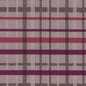 Tattersall Mulberry Fabric Swatch