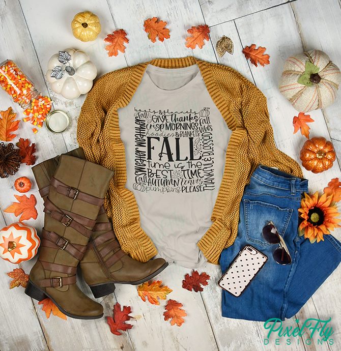Fall The Best Time women's t-shirt in sand, size small