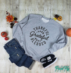 Sweatshirt Thankful Grateful And Blessed, size small