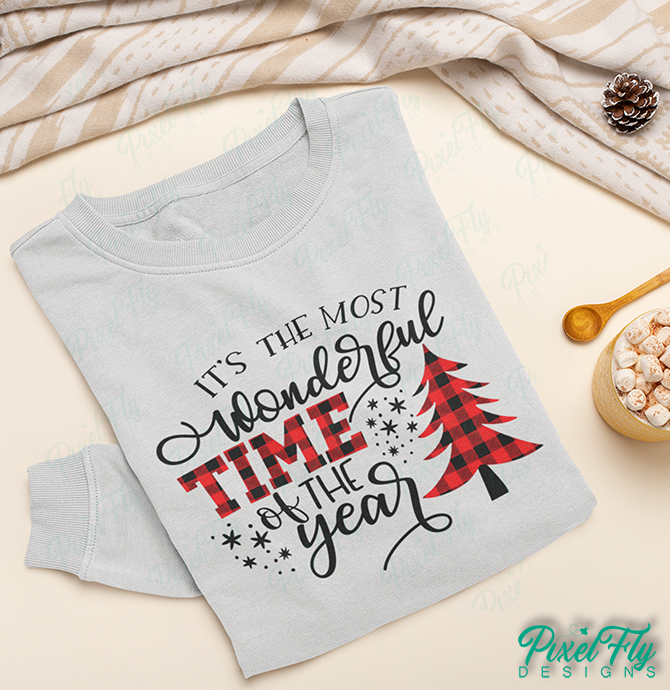 Long-Sleeve T-Shirt - It's The Most Wonderful Time Of The Year, in color sand, size small