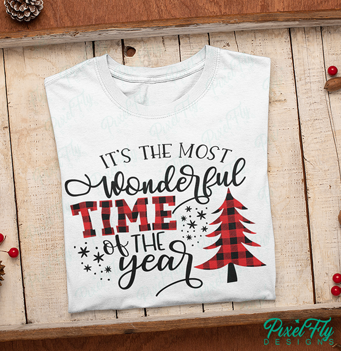 T-Shirt - It's The Most Wonderful Time Of The Year, in color white, size small