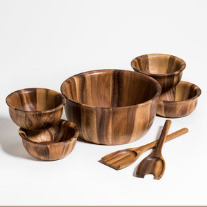 Soro  Large Salad Bowl with servers & 4 Individuals