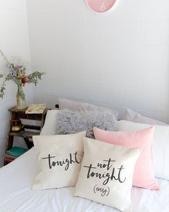 Tonight and Not Tonight Pillow Covers, 2-Pack