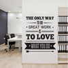A well-placed wall decal can add life and prominence to a room or office.