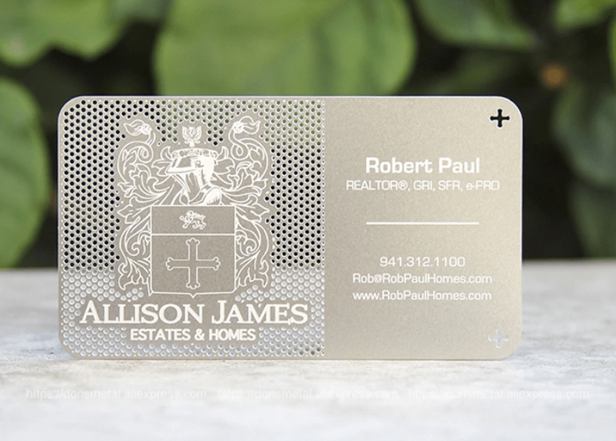 High End Stainless Steel Business Cards
