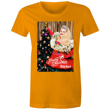 Load image into Gallery viewer, Merry Christmas Bitches Womans T-shirt