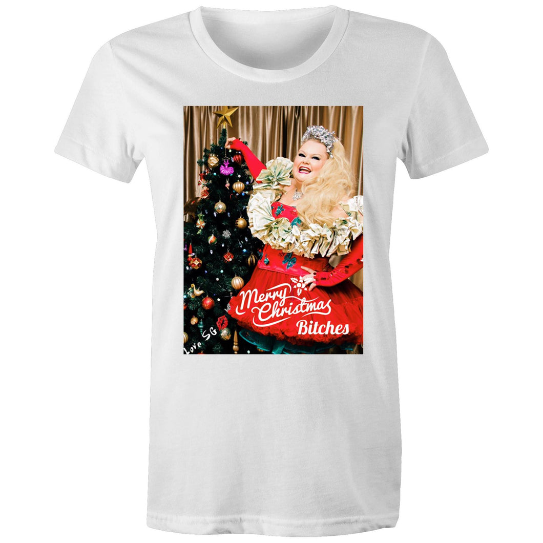 Merry Christmas Bitches Womans T-shirt