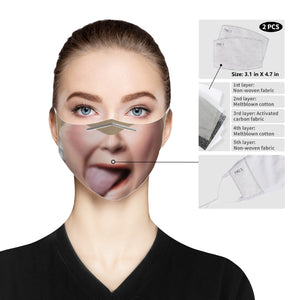 SuperGirly Licking Cloth Face Mask