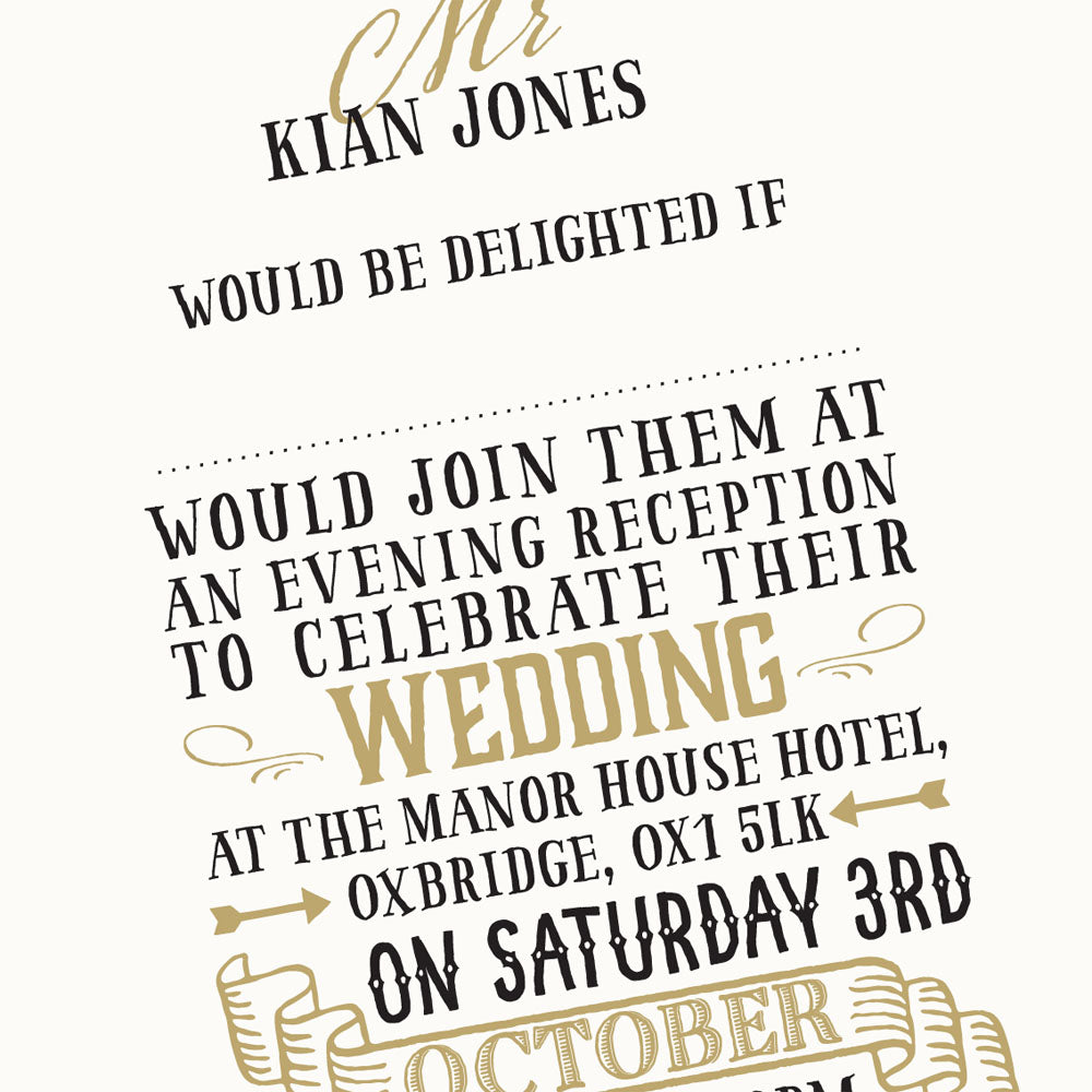 Invitation Wording Love Wedding Print