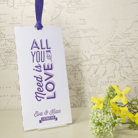 'All You Need' Wallet Wedding Invitation