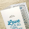 'Love Is All You Need' Tri-Fold Wedding Invitation