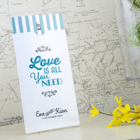 'Love Is All You Need' Wallet Wedding Invitation