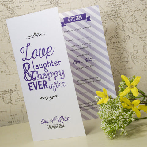 'Love Laughter' Tri-Fold Wedding Invitation