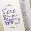 'Love Laughter' Tri-Fold Wedding Invitation Close Up