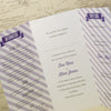 'Love Laughter' Tri-Fold Wedding Invitation Inside