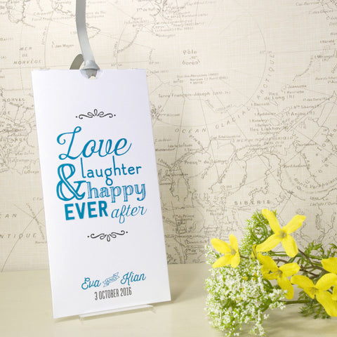 'Love Laughter' Wallet Wedding Invitation