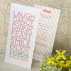 'Smile' Tri-Fold Wedding Invitation