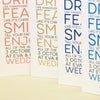 'Smile' Tri-Fold Wedding Invitation-Various Colours