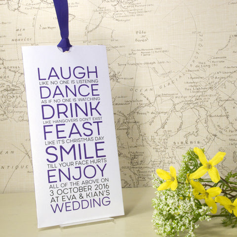 'Smile' Wallet Wedding Invitation