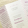 'Wordie' Tri-Fold Wedding Invitation Close Up of Inside