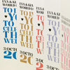 'Wordie' Tri-Fold Wedding Invitation-Various Colours