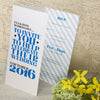 'Wordie' Tri-Fold Wedding Invitation