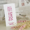 Ivory 'All You Need' Wedding Order of Service