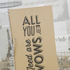 'All You Need' Kraft Wedding Order of Service with Twine Bow