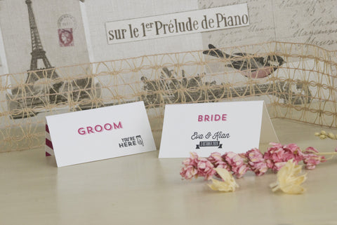 'All You Need' Wedding Place Name Cards