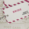 Close Up of Bride 'All You Need' Wedding Place Name Tags