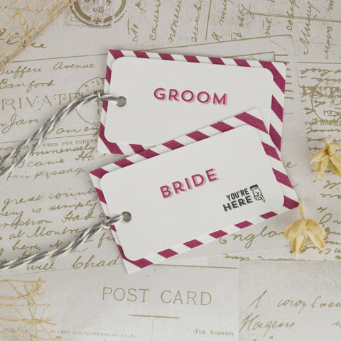 'All You Need' Wedding Place Name Tags