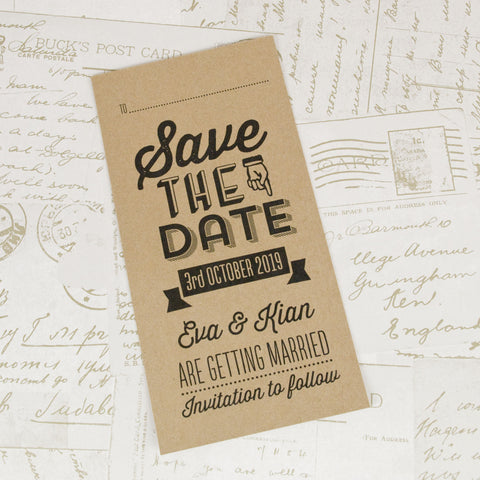 'All You Need' Wedding Save The Date Card
