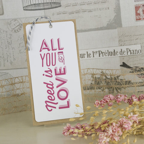'All You Need' Wedding Save The Date Tags