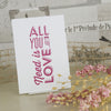 'All You Need' Ivory Wedding Postcard Thank You Cards-Front
