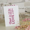 'All You Need' Ivory Wedding Thank You Cards
